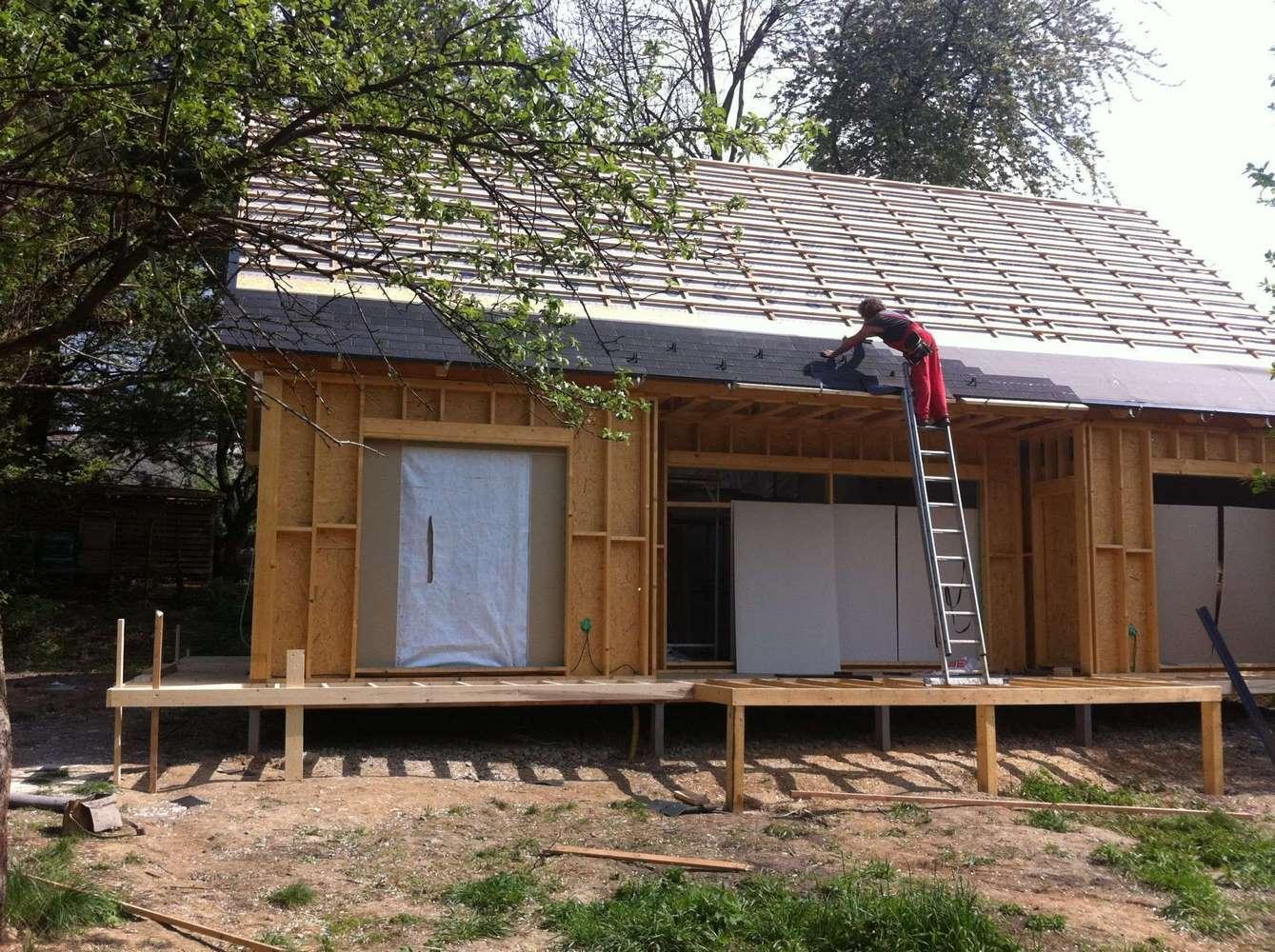"""Nízkoenergetická dřevostavba """"U"""" se sedlovou střechou 33"""