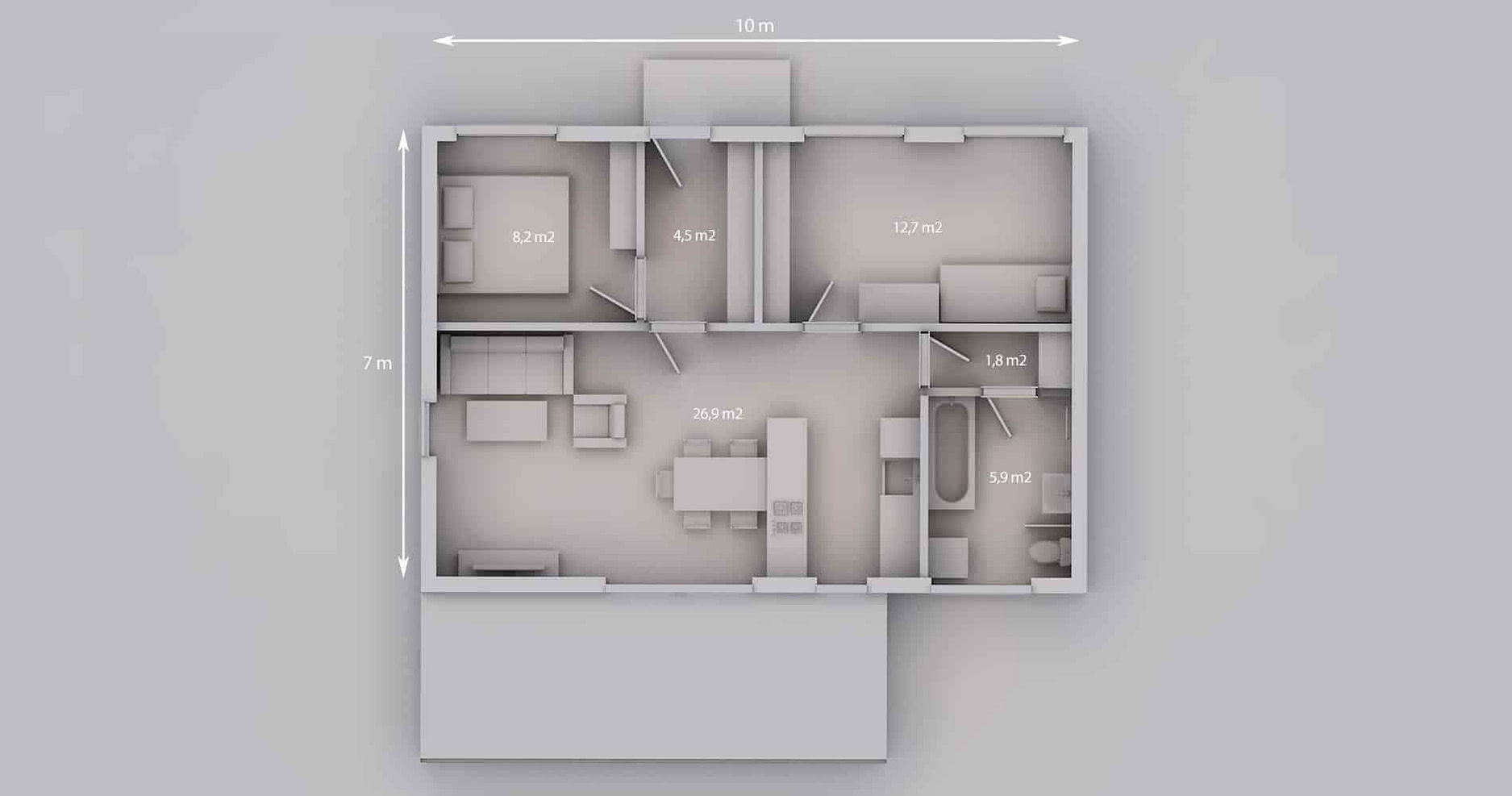 Rodinný dům 70 3+kk 17