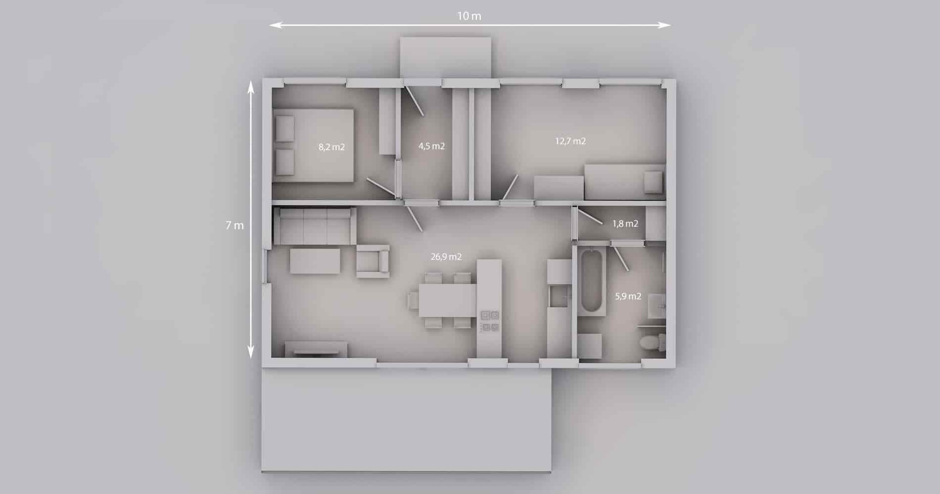 Rodinný dům 70S 3+kk 22