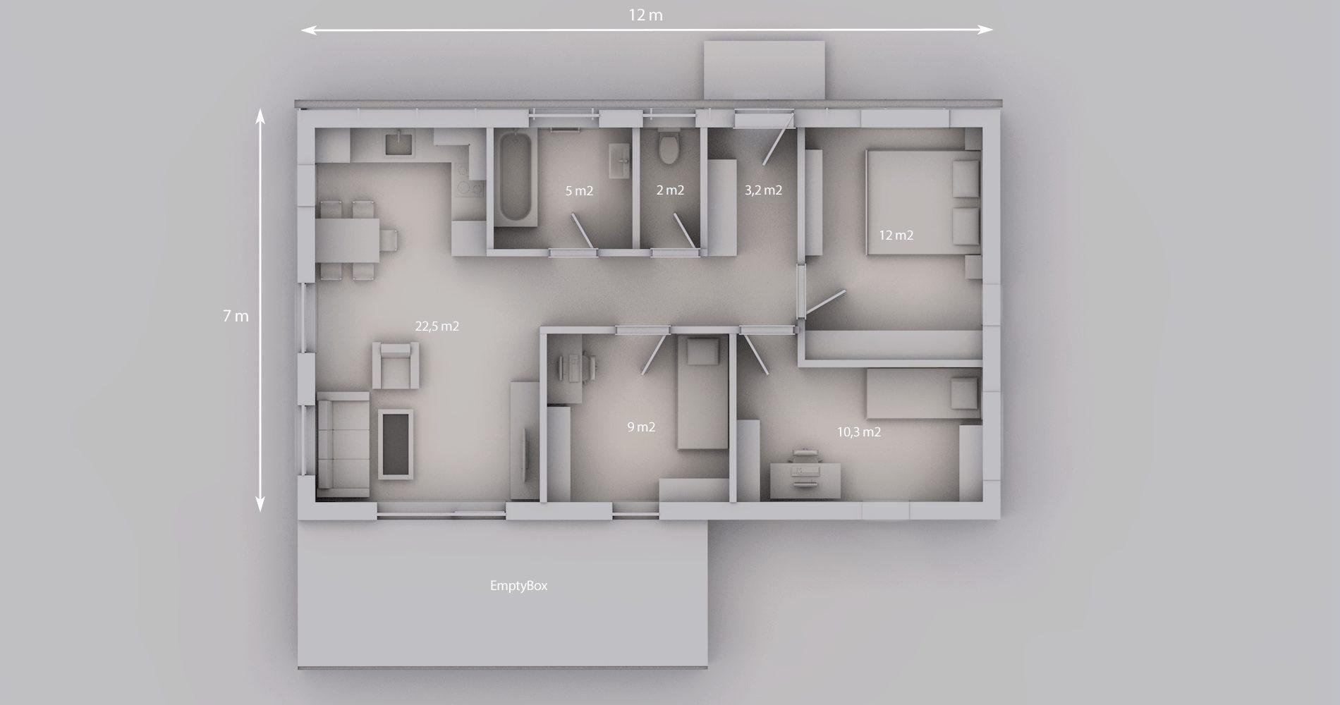 Rodinný dům 84S 4+kk 12
