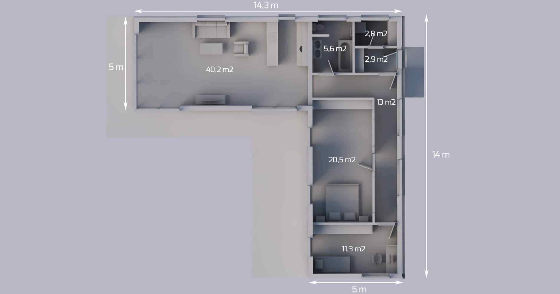 Rodinný dům L116 3+kk 2