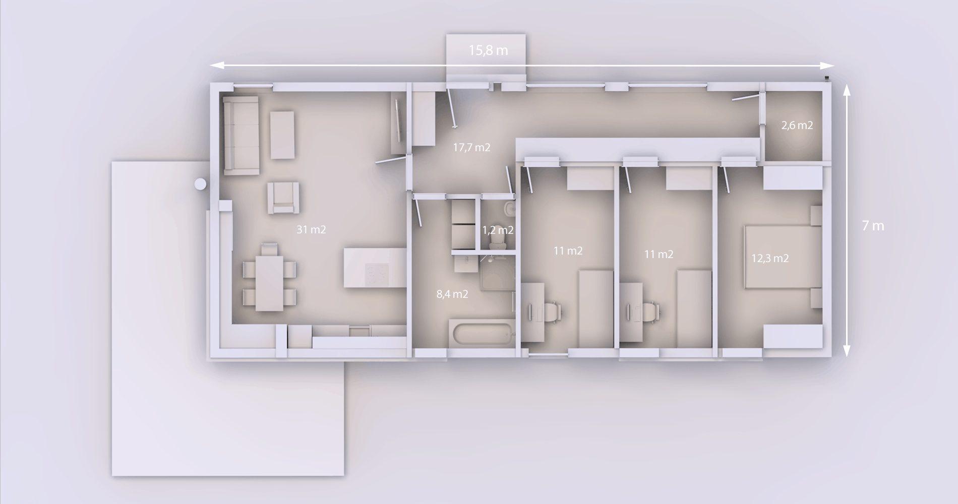 Rodinný dům 111 4+kk 12