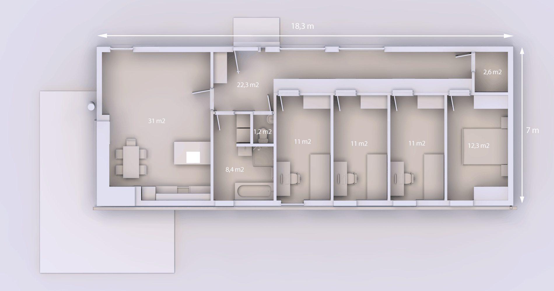 Rodinný dům 128 5+kk 7